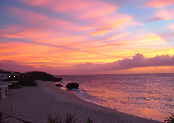 与論島の夕日