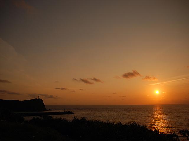 与那国島の夕日
