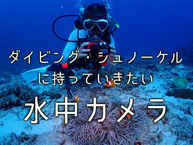 ダイビングに持っていきたい水中カメラ