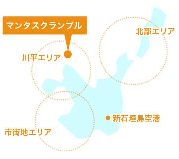 石垣島ダイビングマップ